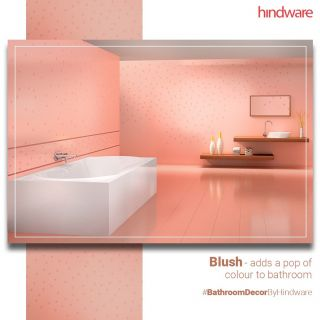Blush bathrooms are back in style. It adds a little dimension and depth to space. Blush as a hue when paired with a white washbasin and bathtub gives it a cozy glow. Do you have a Pink hue bathroom too? Share your Pictures with us. For more such tips, keep an eye on our page.  Products in focus: Wash  Basin - Ornate Over Counter Basin Chrome Plated Faucet - Starc Pillar Cock Tall Bathtub – Marina Plus #BathroomDecorByHindware  #HindwareHomes #Hindware #bathroominspiration #bathroomideas #bathroomremodel