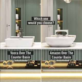 Morning Room Design & Decor presents: The Blissful Zest for Small Bathroom.  It's hard to choose when these two wash basins are so aesthetically pleasing and beautifully designed that you just can't get over with them. Exploring lesser known forms and curves, the Vasca Over The Counter Basin is a tribute to everyone who believes in going beyond convention. Whereas, Amazon Over The Counter Basin is based on bold shapes that helps in creating a bathroom space that is quintessential, timeless and even more luxurious.   What's your pick?   Products Featured:  Vasca Over The Counter Basin - Sleek, exemplary design for a stylish look  Amazon Over The Counter Basin- Based on bold shapes to create a bathroom space that feels both timeless and luxurious   Visit the link in bio.  #MorningRoom #HindwareMorningRoom #MorningRoomDesignsandDecor   #HindwareHomes  #HindwareBathroom  #HindwareBathroomDesign #HindwareSmallBathroom   #BathroomInspiration #BathroomRemodel #BathroomIdeas #BathroomDesign #BathroomDecor #BathroomRenovation #BathroomTrends   #SmallBathroom #SmallBathroomDesign #SmallBathroomTrends #SmallBathroomDecor   #ElegantBathroom #ElegantBathroomDesign #ElegantBathroomDecor #ElegantBathroomTrends   #Faucet #WashBasin #WaterCloset #Shower #RainShower #Ceramic #CeramicWashBasin #CeramicWaterCloset